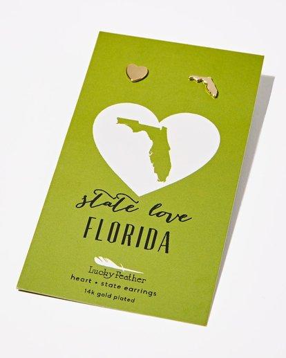 0 Florida Love Earrings Grey JAJWXBFE Billabong