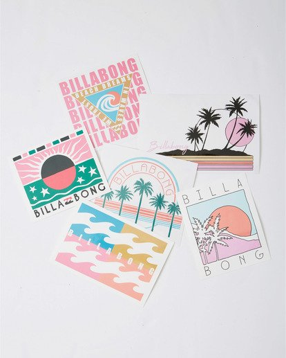 1 Sand And Sun Stickers White JAMC3BSA Billabong