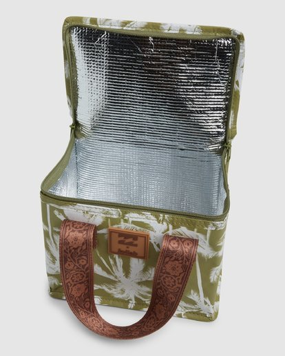 4 Kollab Pretty Palms Lunch Box Green JAMCWBPP Billabong