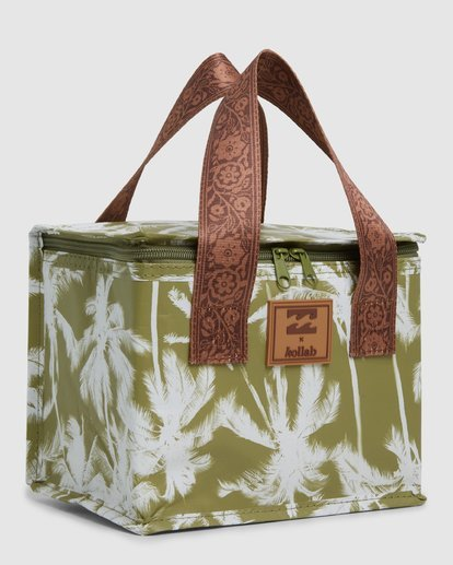 1 Kollab Pretty Palms Lunch Box Green JAMCWBPP Billabong