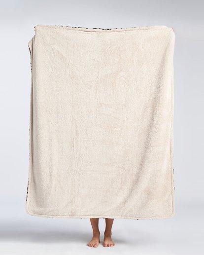 1 Warmin' Up Sherpa Blanket Beige JAMCWBWA Billabong