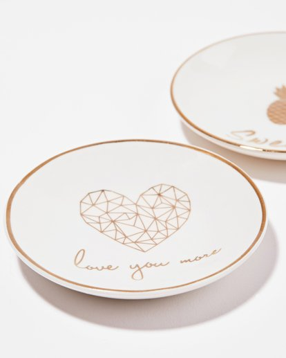 "1 ""Love"" Ceramic Jewelry Dish  JAMCXBLD Billabong"