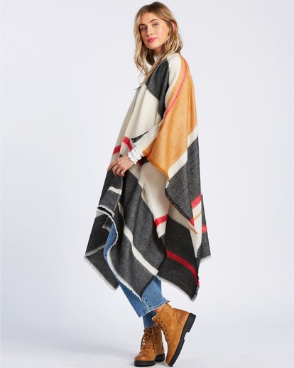 2 Beachy Nights Wrap Kimono Wrap Black JASCSBBE Billabong