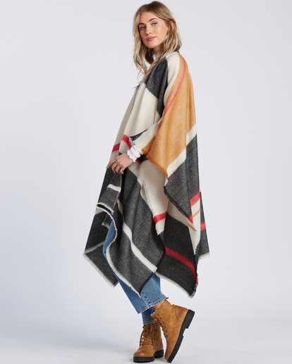 4 Beachy Nights Wrap Kimono Wrap Black JASCSBBE Billabong