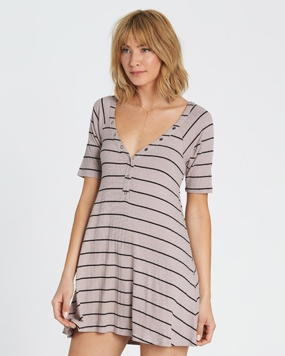1 Hide Away Knit Dress Grey JD01SBHI Billabong
