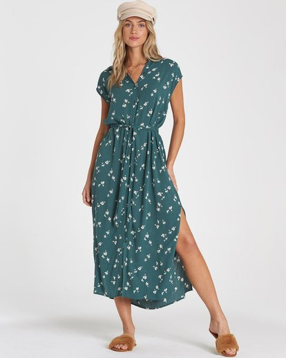 0 Little Flirt Dress Green JD01WBLI Billabong