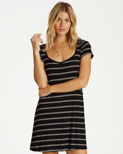 0 Right Away Mini Dress Black JD03VBRI Billabong
