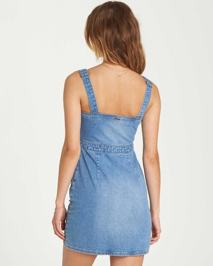 3 Coastline Dance Denim Dress Blue JD04QBCO Billabong