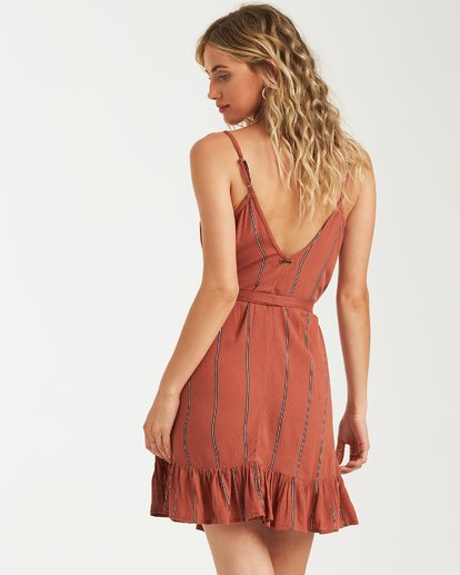 3 Air Dancer Dress Brown JD05VBAI Billabong