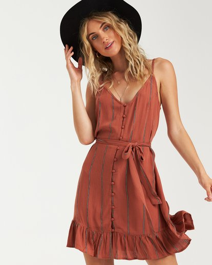 0 Air Dancer Dress Brown JD05VBAI Billabong