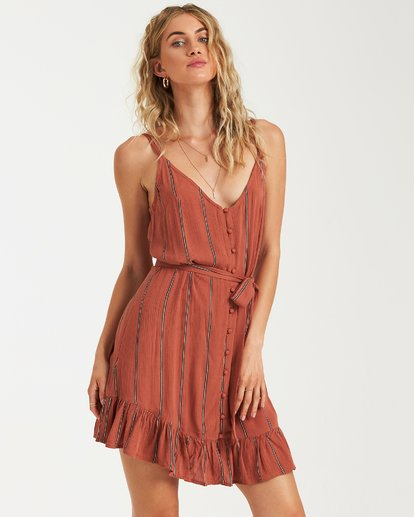 1 Air Dancer Dress Brown JD05VBAI Billabong