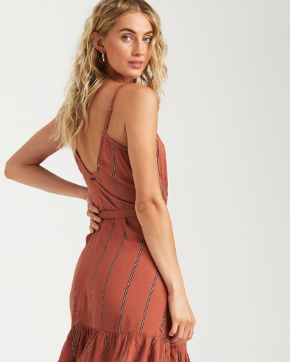 2 Air Dancer Dress Brown JD05VBAI Billabong