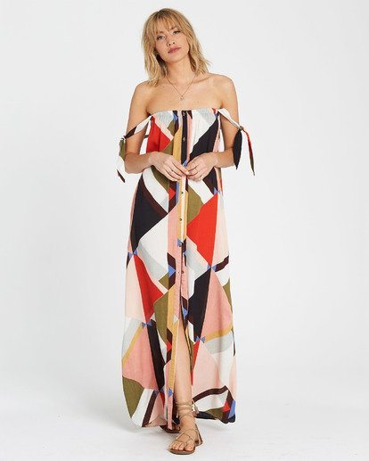 5 Rainbow Gate Printed Maxi Dress  JD06SBRA Billabong
