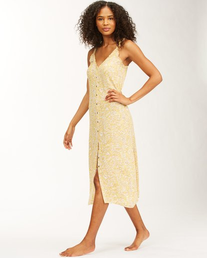 3 Sweet Edges Dress Yellow JD06VBSW Billabong