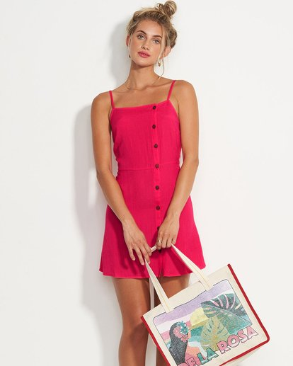 0 Fine Nights Mini Dress Red JD08UBFI Billabong