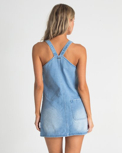 2 The Ringer Denim Dress Blue JD09TBTH Billabong