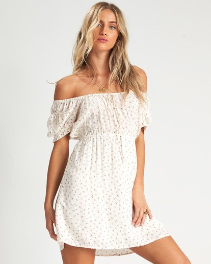 3 Fall For Love Dress White JD111BFA Billabong