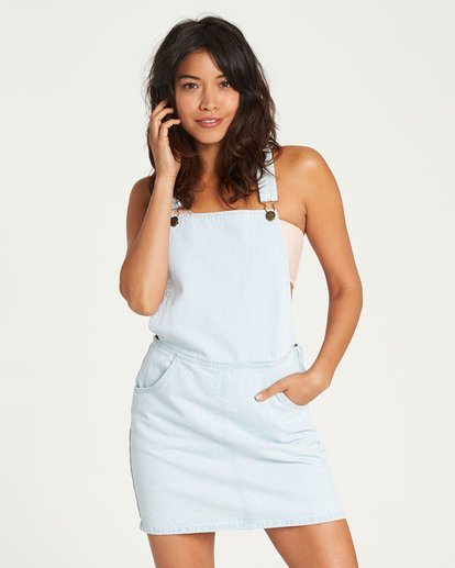 0 Ocean Drive Denim Pinafore Dress Blue JD11NOCE Billabong