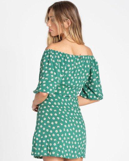 2 Best Dressed Wrap Dress Green JD12TBBE Billabong