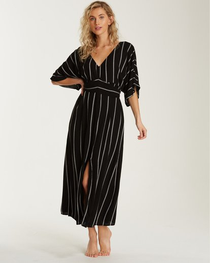 0 Forever Fine Midi Dress Black JD15TBFN Billabong