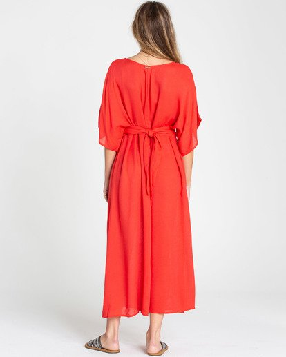 3 Forever Fine Midi Dress Red JD15TBFO Billabong