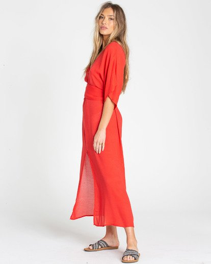 2 Forever Fine Midi Dress Red JD15TBFO Billabong