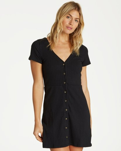 0 On With It Dress Black JD15VBON Billabong