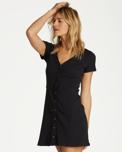 1 On With It Dress Black JD15VBON Billabong
