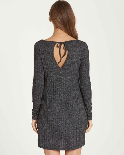2 Heart To Heart Long Sleeve Dress Grey JD16QBHE Billabong