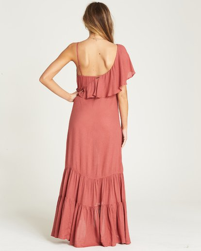 3 Kiss To Tell Maxi Dress Red JD19TBKI Billabong
