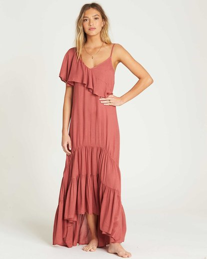 1 Kiss To Tell Maxi Dress Red JD19TBKI Billabong