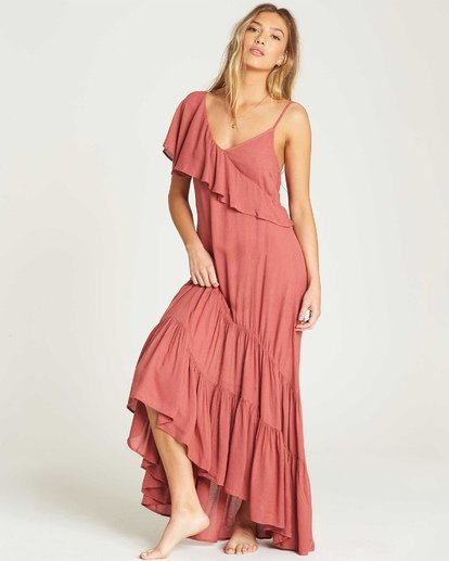 2 Kiss To Tell Maxi Dress Red JD19TBKI Billabong