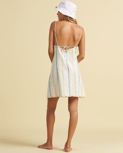 2 Salty Blonde Sunny Stripes Slip Dress Grey JD203BSU Billabong