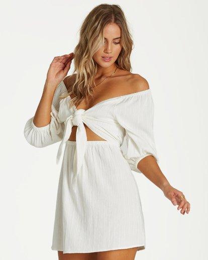 1 Heart Ties Dress White JD20VBHE Billabong