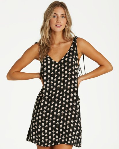 0 High Tied Mini Dress Black JD21VBHI Billabong