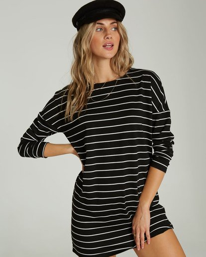 0 Simply Put Shirt Dress Black JD22QBSI Billabong