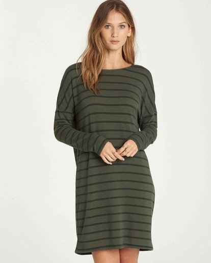 0 Simply Put Shirt Dress Green JD22QBSI Billabong