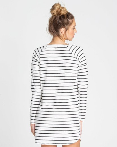 2 Only You Sweatshirt Dress White JD22TBON Billabong
