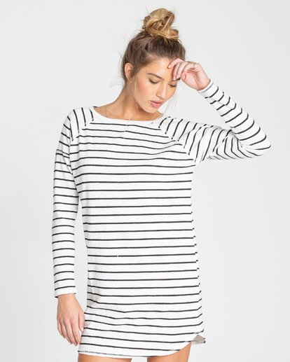 1 Only You Sweatshirt Dress White JD22TBON Billabong
