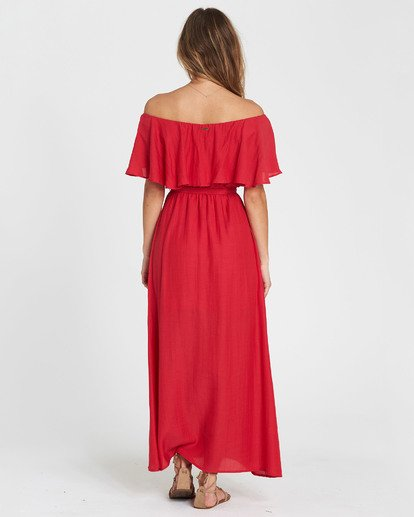 4 Dance All Night Knit Maxi Dress Red JD23SBDA Billabong