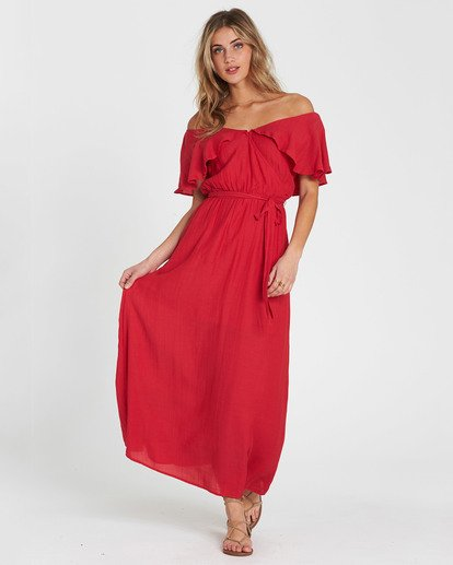 1 Dance All Night Knit Maxi Dress Red JD23SBDA Billabong