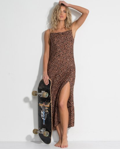 0 Love Bias Dress Brown JD24WBLO Billabong