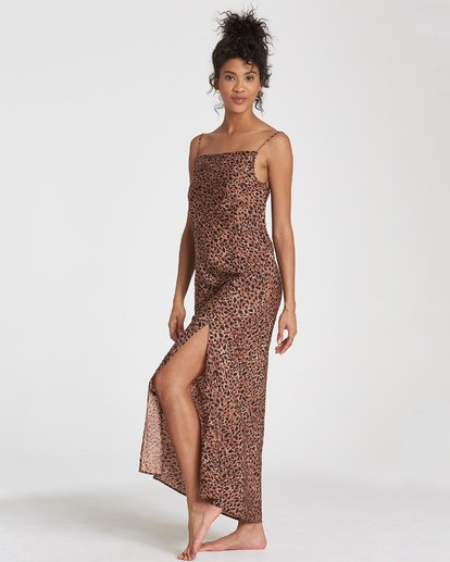 2 Love Bias Dress Brown JD24WBLO Billabong