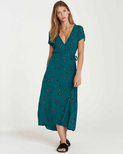 1 Wrap Me Up Dress Green JD25JWRA Billabong