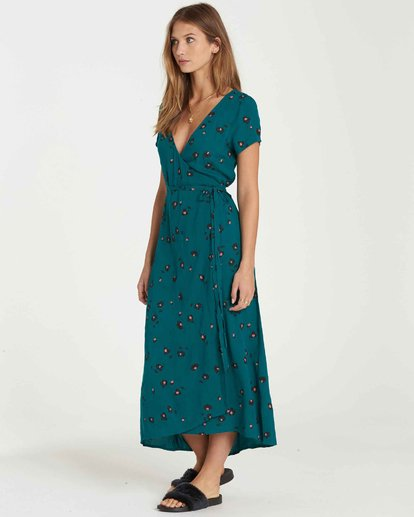 2 Wrap Me Up Dress Blue JD25JWRA Billabong