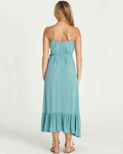 2 Hold Me Tight Wrap Maxi Dress Blue JD26PBHO Billabong