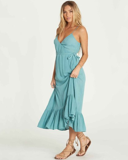 1 Hold Me Tight Wrap Maxi Dress Blue JD26PBHO Billabong