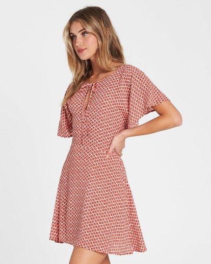 3 Tomorrows End Printed Mini Dress Red JD27SBTO Billabong