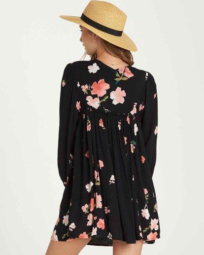 2 Beach Craze Long Sleeve Mini Dress Black JD28QBBE Billabong