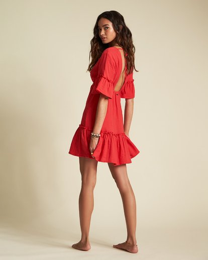 5 Sincerely Jules Lovers Wish Dress Red JD31TBLO Billabong